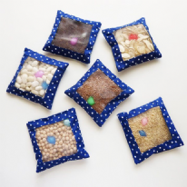 6 Pack Sensory Textured Bean Bags